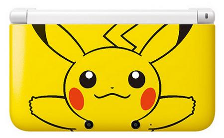 nintendo 3ds xl,pikachu