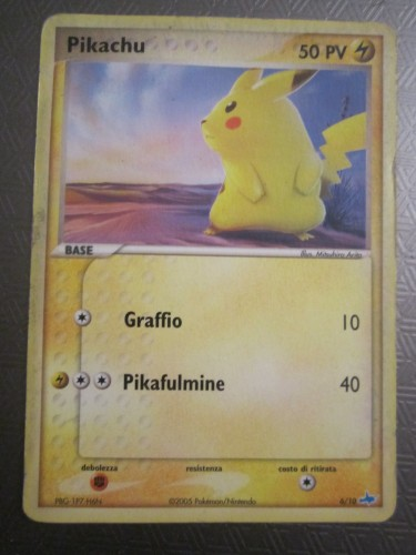 Carta Pokemon Pikachu.JPG