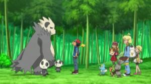 XY011 - Inseguimento nella Foresta Bamboo! Pancham e Pangoro!! di Pokemon X e Y 7