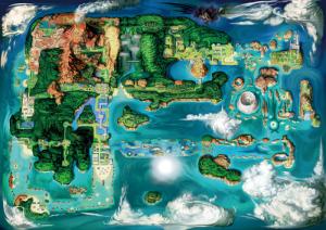 Illustrazione della nuova mappa di Hoenn