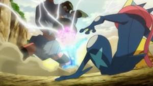 Riassunto dell'episodio XY052 - Confronto tra Arti Ninja! Frogadier contro Barbaracle! 3